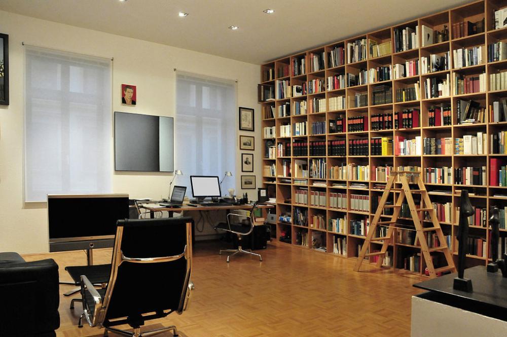 Nüchternes Arbeitszimmer Wohnzimmer Modern in Weiss
